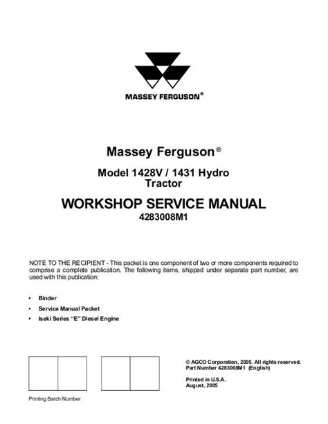 agco technical publications massey ferguson tractor
