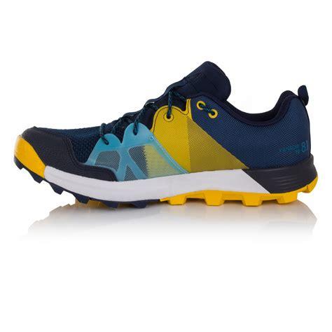 adidas kanadia 8 1 mens yellow blue trail running sports shoes trainers ebay
