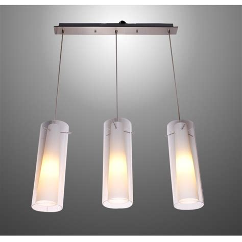 Kitchen Pendant Light Fittings New Modern Glass Kitchen Bar Pendant L 3 Lights E27 Fitting Rectangle Canopy Suspension