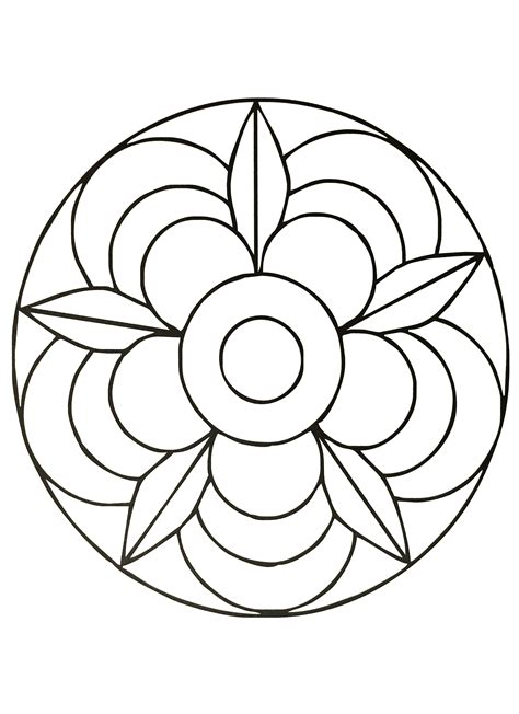 simple mandalas to print and color mandalas coloring pages for kids to print color