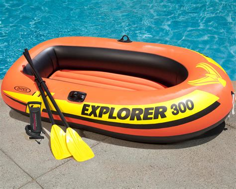blow up boat accessories intex explorer 300 inflatable boat set three man blow up