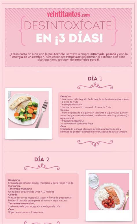Detox Dieta Desintoxicante by Dieta Desintoxicante En 3 D 237 As Infograf 237 A Con Recetas