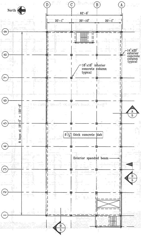 typical floor framing plan concrete buildings damaged in earthquakes