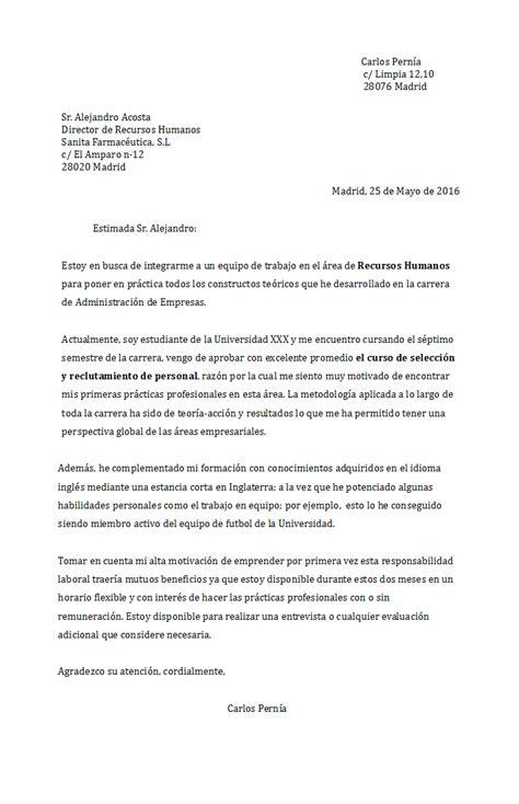 Modelo Carta De Presentacion Curriculum Administrativo Ejemplos Y Modelos De Cartas De Presentaci 243 N En Word Gratis