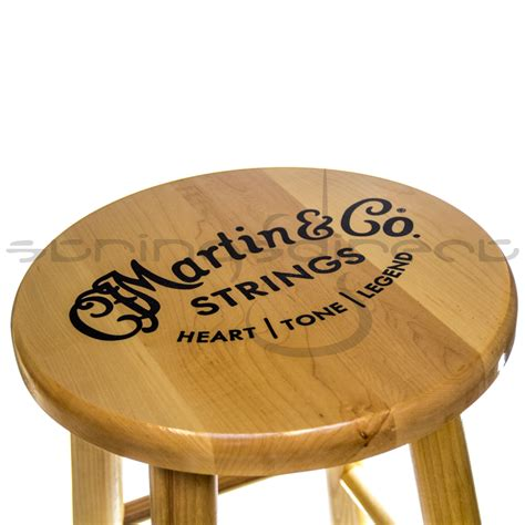 Cf Martin Guitar Stool by C F Martin Guitar Solid Wooden Logo Bar Stool