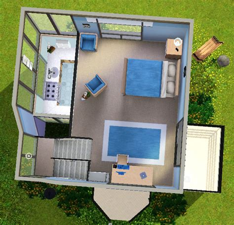 Mod The Sims Big Family Small Budget 5 Sims 3 Small Modern House Www Imgkid The Image Kid