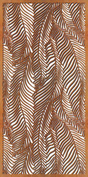wood pattern on metal wispy palms laser cut wooden privacy panel yard