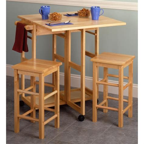 Breakfast Bar With Stools by Winsome Square Breakfast Bar With 2 Stools 151049