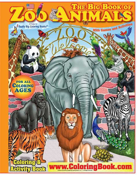 zoo picture book coloring book publishers zoo animals big coloring book