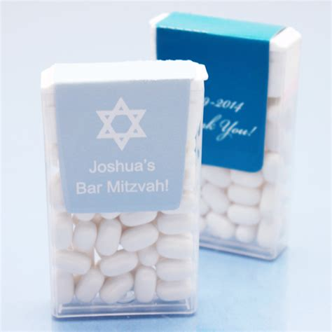 Bat Mitzvah Giveaways Personalized - bar mitzvah silhouette personalized tic tac favors bar mitzvah bat mitzvah party