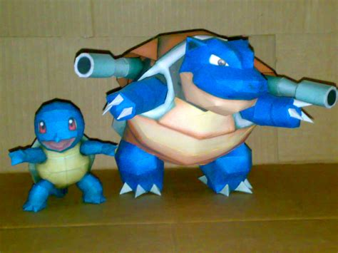 Squirtle Papercraft - squirtle y blastoise papercraft by geokyls on deviantart