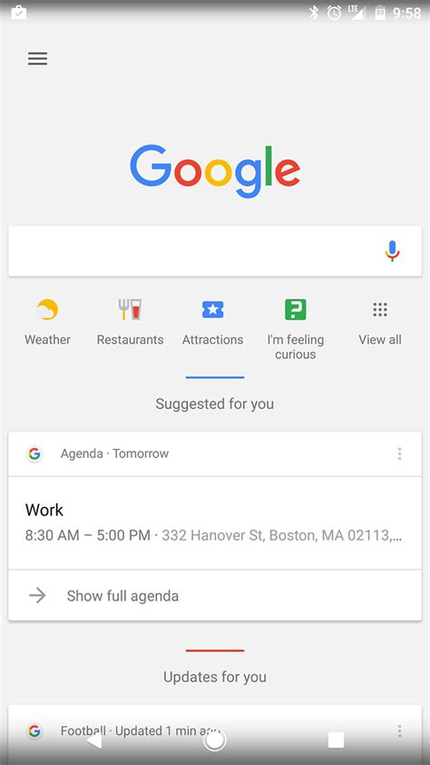 layout google now google is testing a new layout for hints and search shortcuts