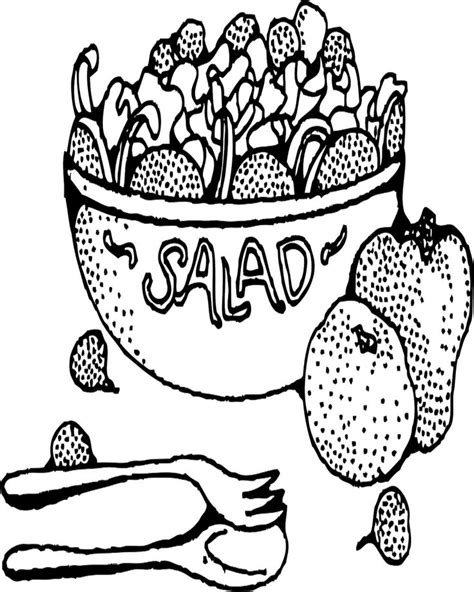 salad bowl coloring page printable coloring pages crafts more 10 handpicked