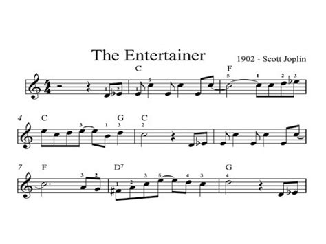 tutorial piano the entertainer the entertainer beginners sheet music piano organ