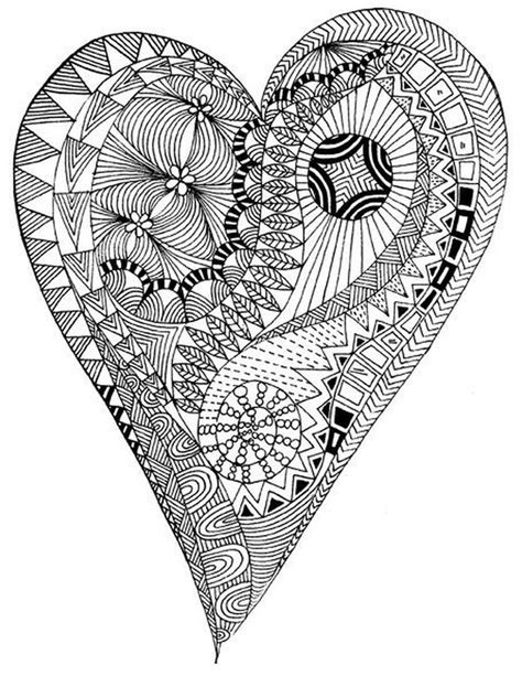 coloring pages for adults heart 675 best images about art zentangle heart on pinterest