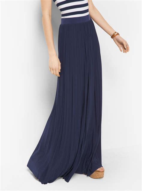 pleated jersey maxi skirt michael kors