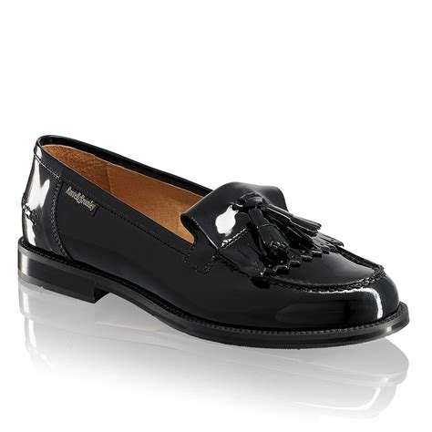 russel and bromley loafers chester tassel loafer in black patent bromley
