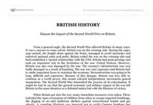 Influence Of Occupation Of Britain Essay by The Impact Of The Second World War On Britain Essay Creativecow Web Fc2