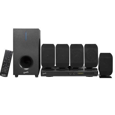 Lifier Digital 5 1 Home Theater Karaoke System Plus Murah 2 supersonic 97095079m 5 1 channel dvd home theater system with usb input and karaoke function black