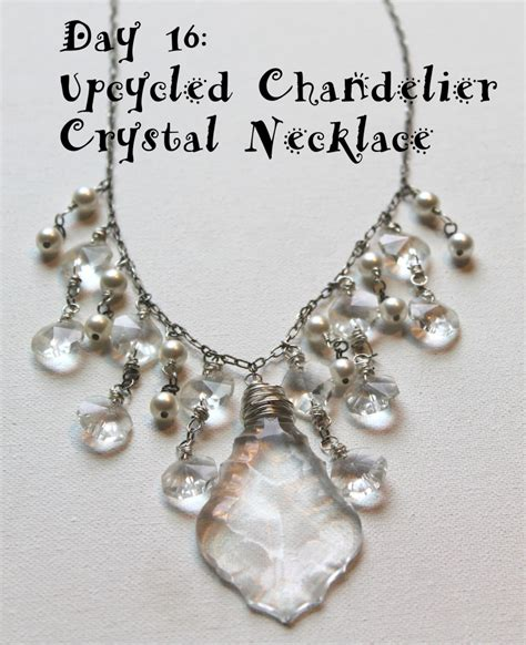 chandelier necklace upcycled chandelier necklace emerging creatively jewelry