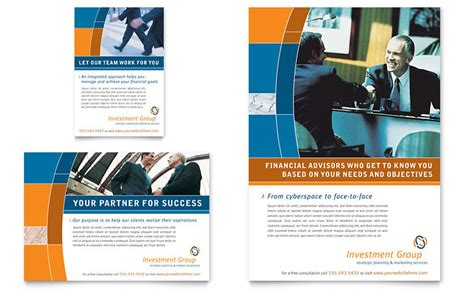 Investment Services Flyer Ad Template Word Publisher Ads Audit Template