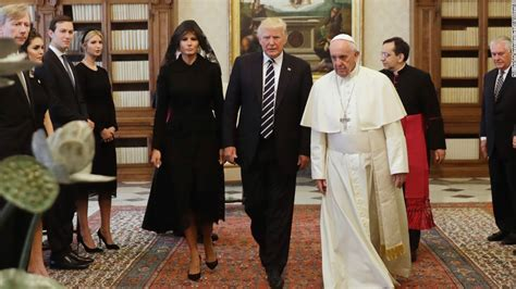 trump pope francis melania trump is the first catholic first lady since