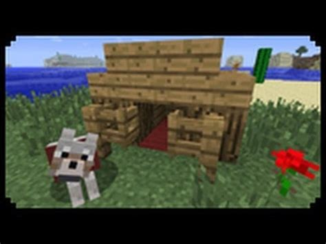 dog house minecraft minecraft how to make a dog house youtube