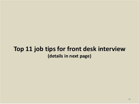 front desk interview questions top 36 front desk interview questions with answers pdf
