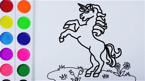 imagenes unicornios para dibujar como dibujar y colorear un unicornio de arco iris arte y
