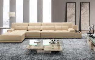 elegant and rational leather sofa livingroom sectional with