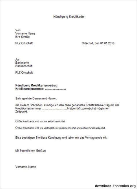 Vorlage Kündigung Abo Englisch kreditkarte k 252 ndigen k 252 ndigungsschreiben vorlage word