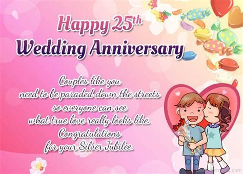 Happy 25th Wedding Anniversary DC09   Anniversary & Love
