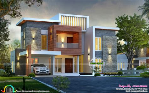 Contemporary Kerala Style House Plans Awesome Contemporary Style 2750 Sq Ft Home Kerala Home Design And Floor Plans