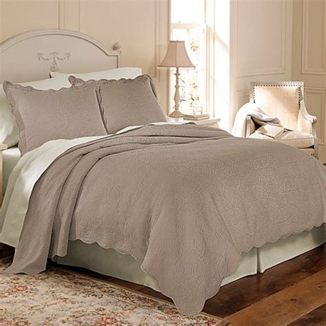 bed bat beyond matelasse coventry coverlet set in taupe bed bath beyond