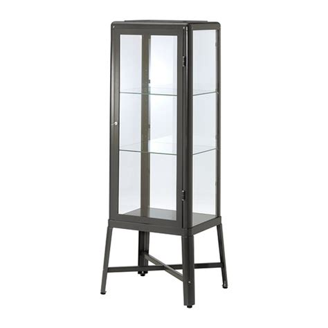 fabrikor ikea fabrik 214 r glass door cabinet dark gray ikea