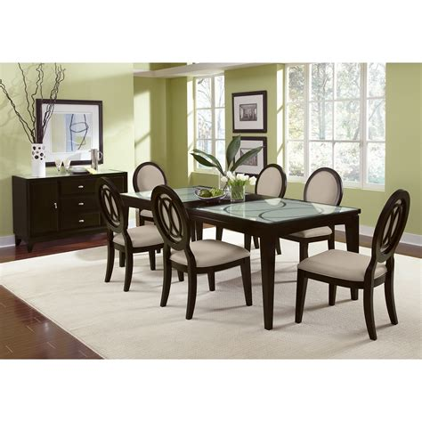 Cosmo Table And 6 Chairs Merlot American Signature American Signature Dining Table