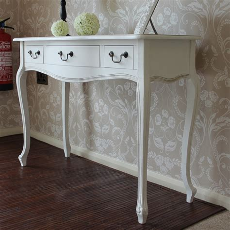 modern shabby chic console tables french bedroom company white wooden console table dressing table drawer shabby