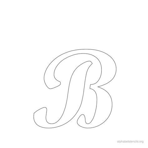 free printable letter stencils for crafts alphabet stencils cursive b crafts pinterest