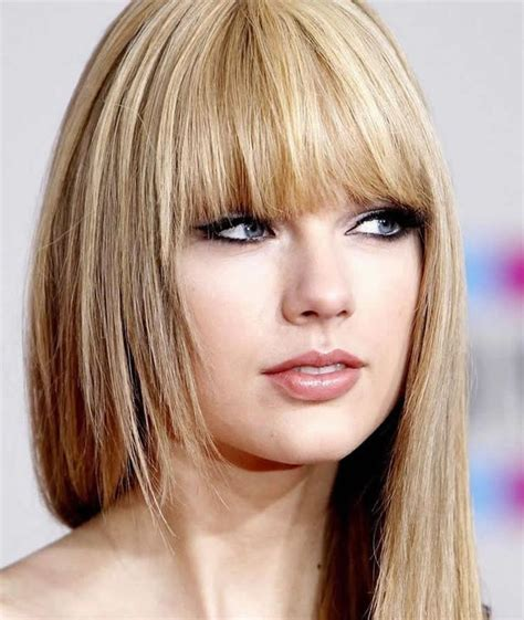 hair cut in front straight bangs on taylor swift hair pinterest