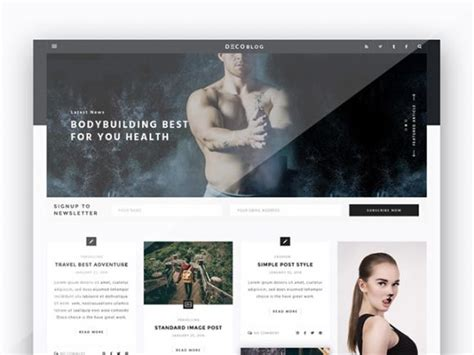 layout blog psd personal blog design template freebiesbug