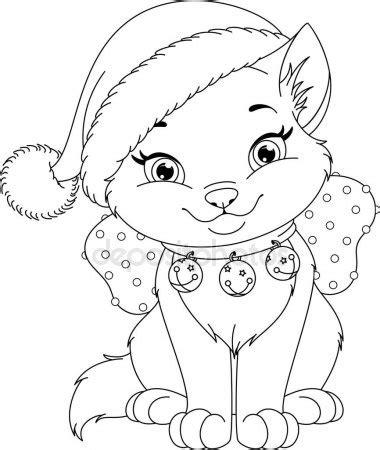 coloring pages of christmas cats portf 246 y malyaka stok fotoğrafları ill 252 strasyonları ve