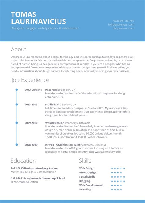 creative resume templates 19 contemporary resume templates to impress any employer