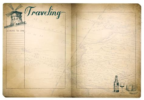 printable travel journal pages for adults boulevard de l antique retro scraps free printable