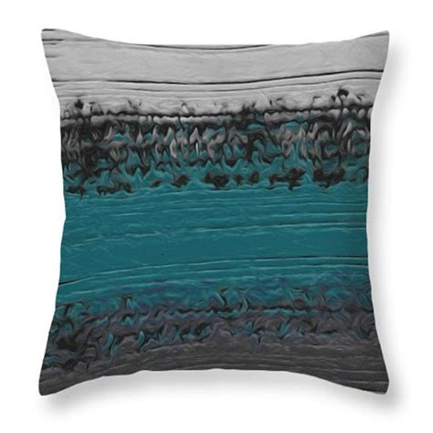 Teal And Grey Throw Pillows by Decorative Pillow Teal And Gray Abstract