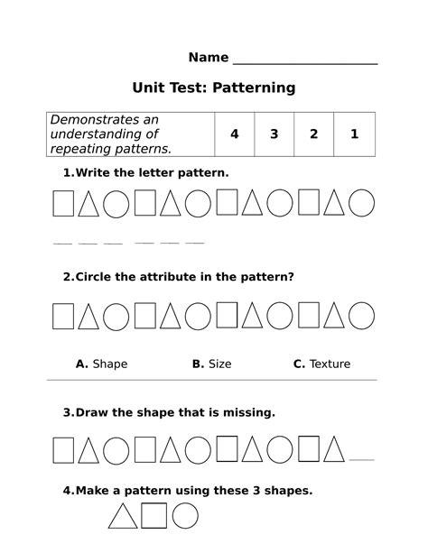 pattern unit test browse our resources ninja plans