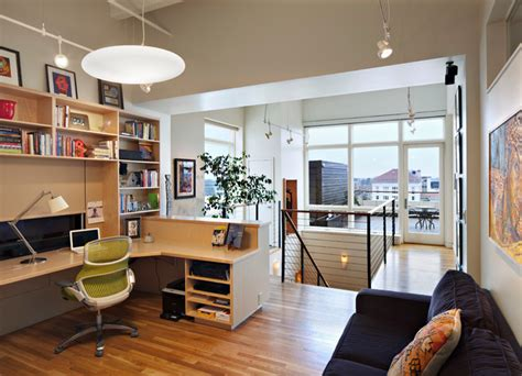 kress penthouse contemporary home office raleigh