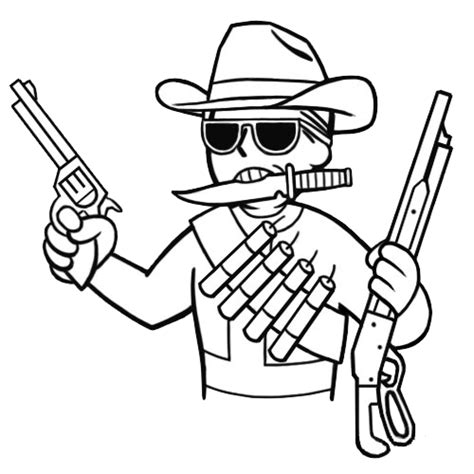 Cowboy Fallout Wiki Fandom Powered By Wikia Cool Drawings Of Shooting 2