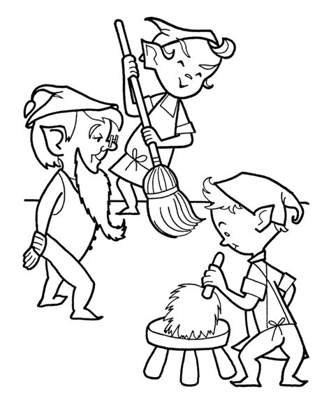 coloring pages elves santa the holiday site christmas elf coloring pages