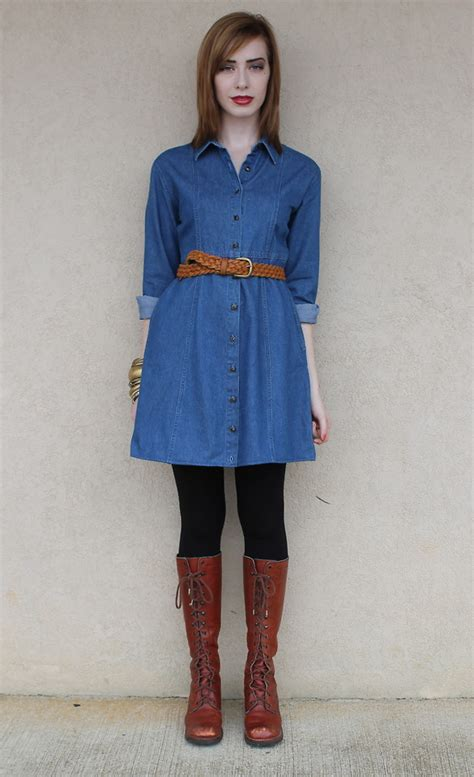 blue jean dress with boots aaron everybody s buying vintage denim