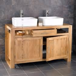 bathroom basins and cabinets cube solid oak basin bathroom cabinet with taps
